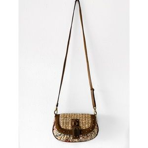 Nine West Bags - NINE WEST STRAW SHOULDER CROSSBODY CLUTCH BAG